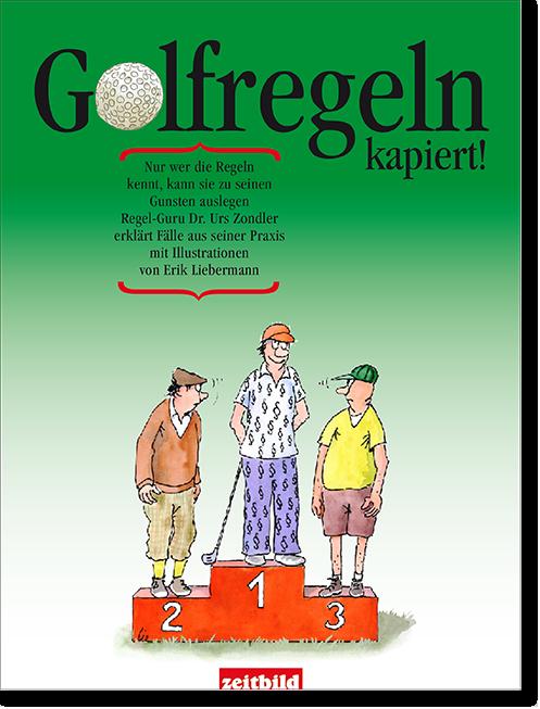 Layout Buch Golfregeln / Zeitbild