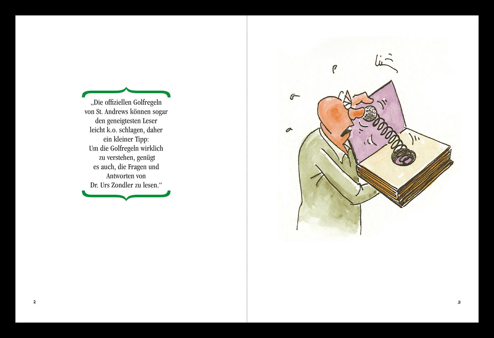 Buch Golfregeln / Zeitbild
