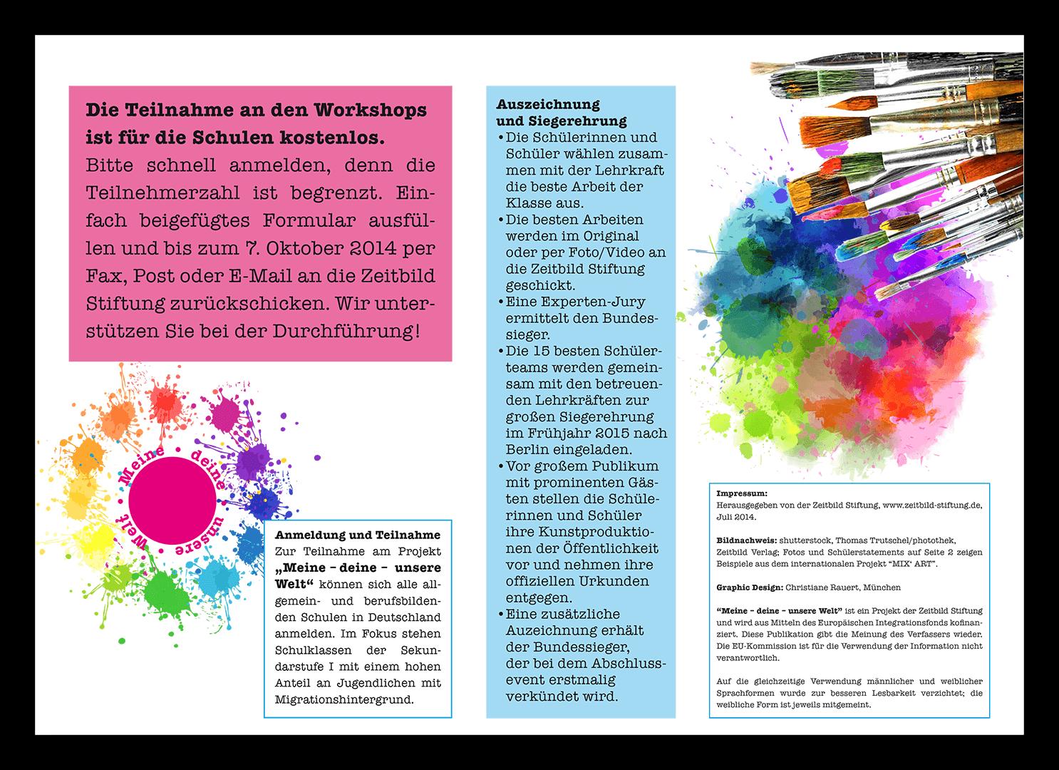 Kunstprojekt / Integration / Zeitbild Stiftung