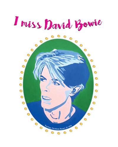 Logo-Design und Illustration - Motiv David Bowie
