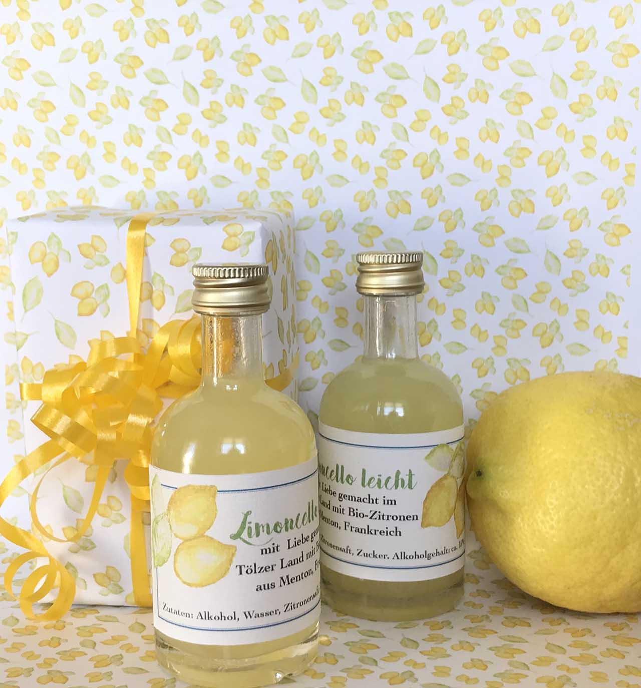 Verpackungs Gestaltung, Limoncello, 2020